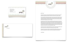 Letterhead Samples Word Pilates & Yoga  Business Card & Letterhead Template  Graphic .