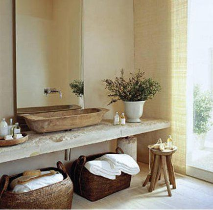 An Ultra Rustic House In Majorca Features This Romantic Vessel Sink  Installed On A Rough Photo