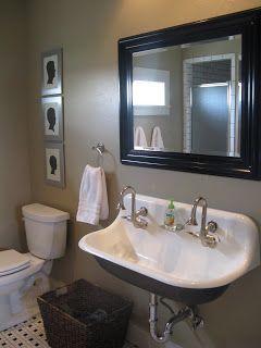Boy S Bath Bathroom Farmhouse Style Farmhouse Bathroom Sink Bathroom Red