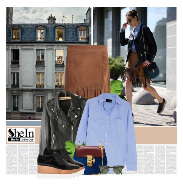 """""""Bold Tuesday"""" by bklana ❤ liked on Polyvore featuring Chanel, J.Crew, Chloé, STELLA McCARTNEY, Ray-Ban and shein"""