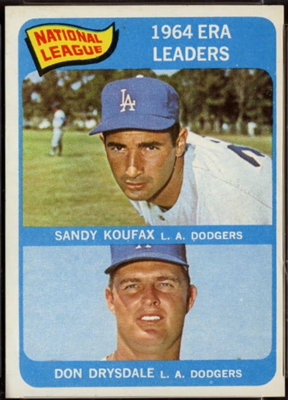 1965 topps national league era leaders redux baseball