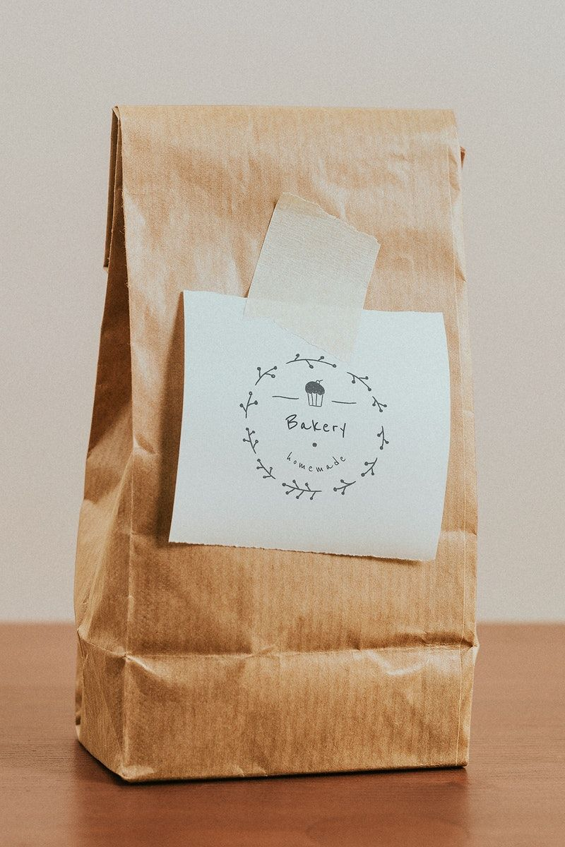 Download Premium Psd Of Brown Paper Bag With A White Notepaper Mockup Brown Paper Bag Paper Bag Design Packaging Ideas Business