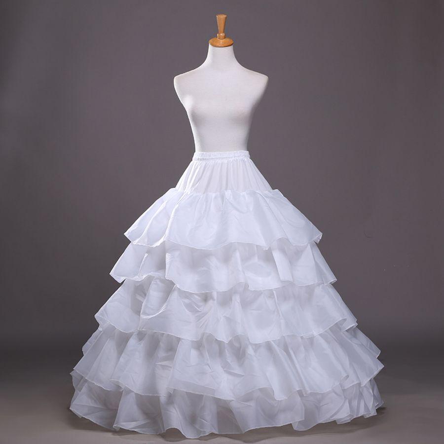 Kaufen 4 Hoops 5 Lagen Petticoat für Hochzeitskleid Ballkleid Puffy ...