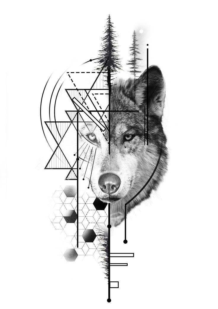 Geometirc Wolf Tattoo Design Tattoo Geometirc Wolf Tattoo Design
