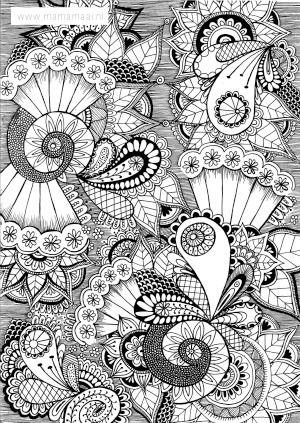 Kleuren Voor Volwassenen Doodles Zentangles Free Coloring Page Fot Adults