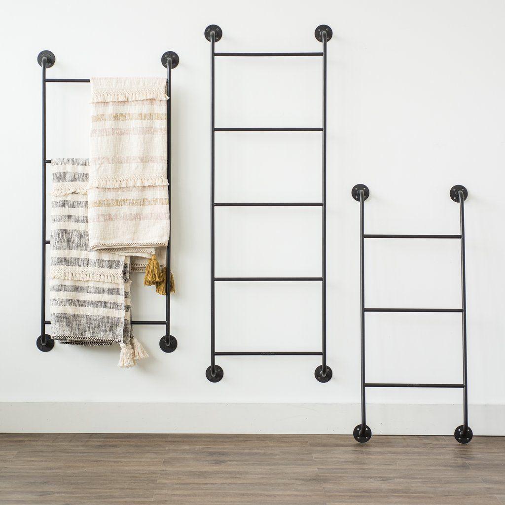 wall ladder blanket rack