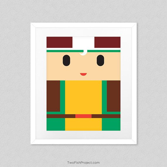 Rogue Xmen Poster for Nursery Cute Minimalist by TwoFishProject ...