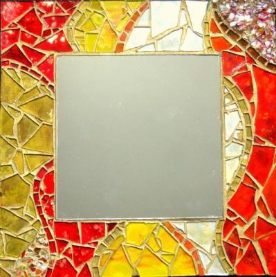 Espejos con marco decorados espejo vidrios de colores - Marcos de madera para decorar ...