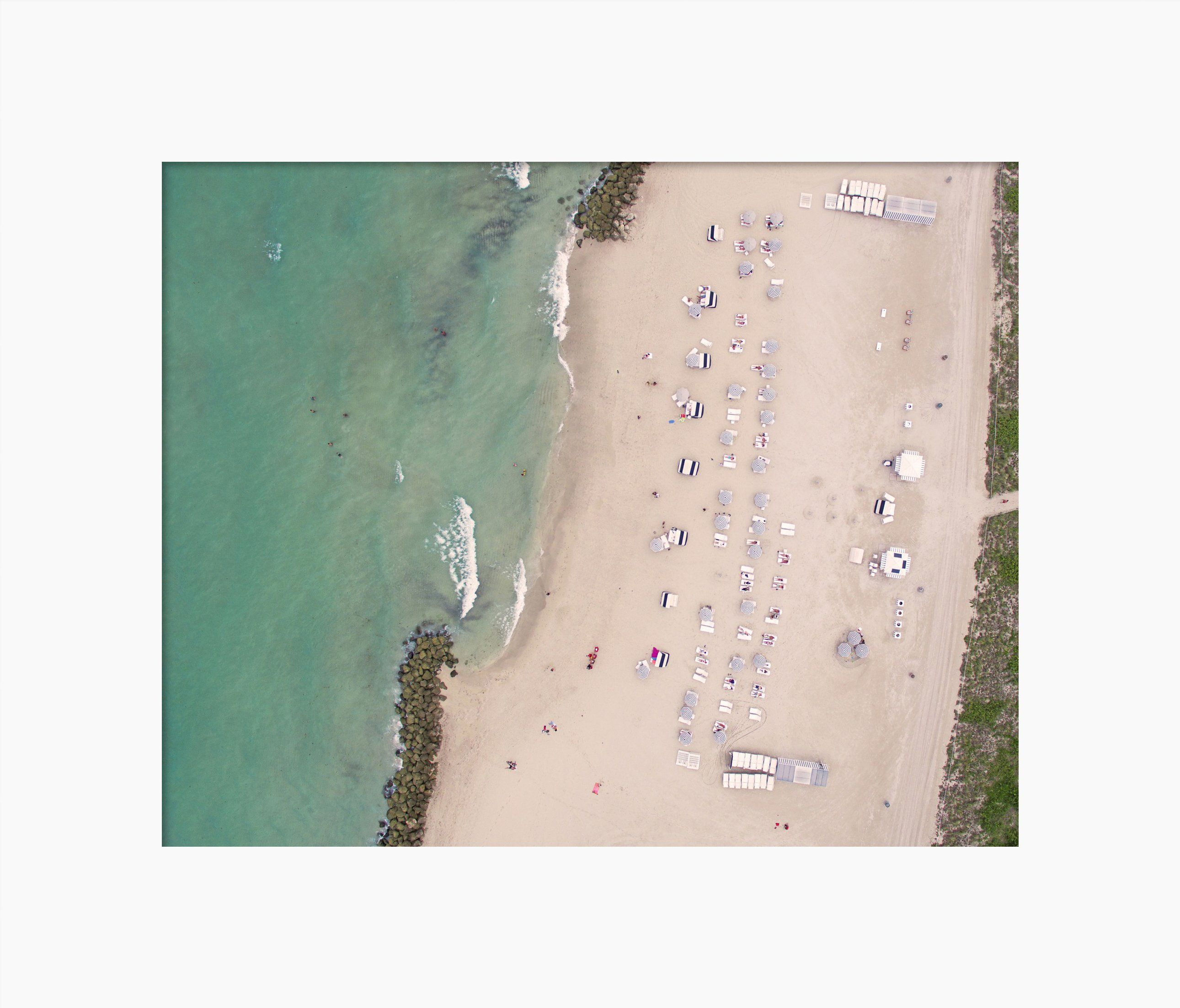 Matted Print of Miami Beach Edition Hotel Paradise Aerial Fine Art Photography by Roman Gerardo