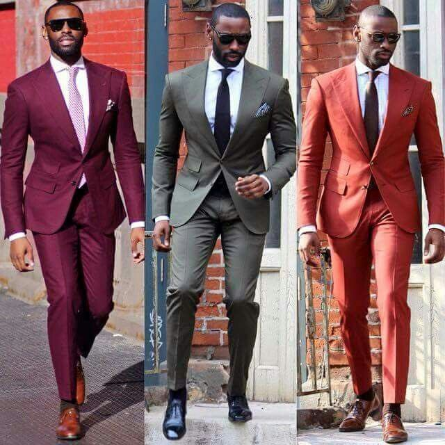 The Colours On These Tailored Suits ... So Crisp And