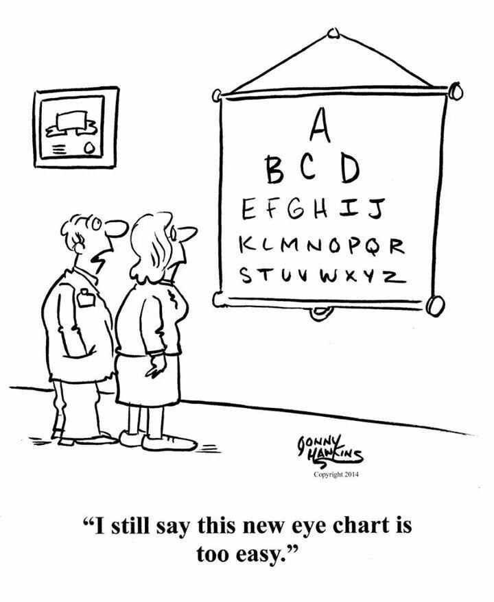 Easy Eye Chart Eye Humor Pinterest Chart And Humor