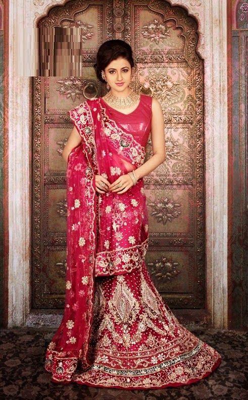 969f4f32f5 Beautiful Bridal Lehenga Sarees Collection by famous designer Zahara at  Mirraw