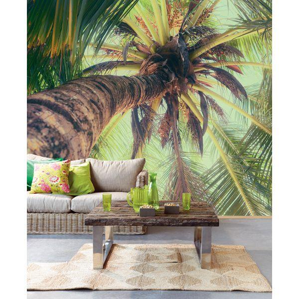 La Palmera Green Vertical Palm View   Tropical   Wall murals, Tropical decor e House design
