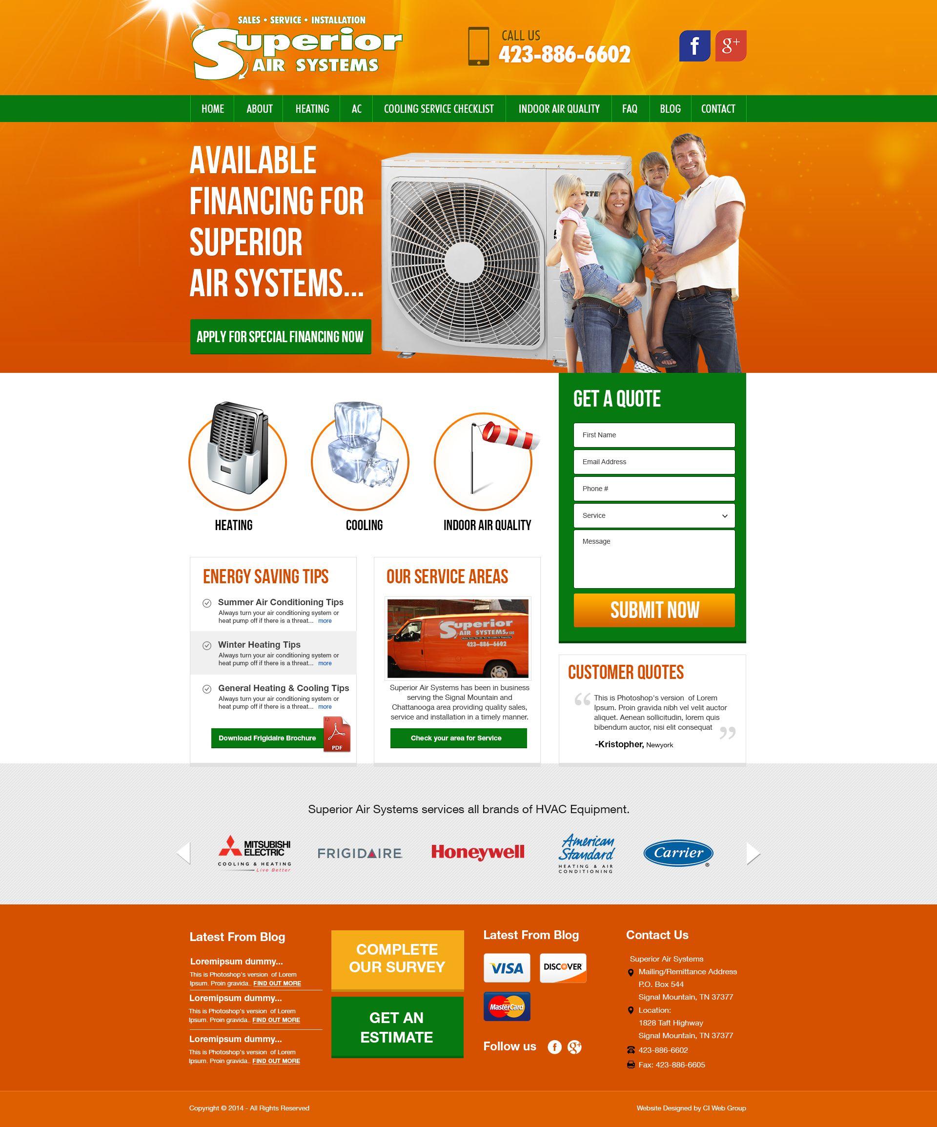 Web Design Heating Services Energy Saving Tips Save Energy
