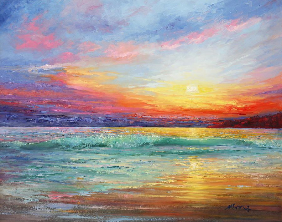 Smile Of The Sunrise Painting by Marie Green | pictura ...