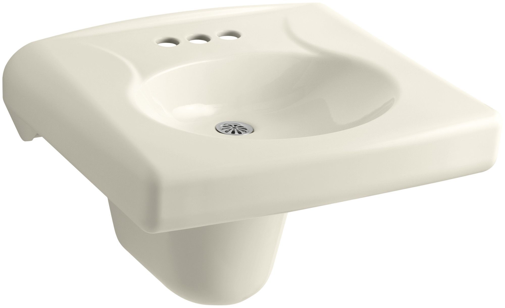 Brenham WallMounted Or Concealed Carrier Arm Mounted Commercial - Commercial wall mounted bathroom sinks