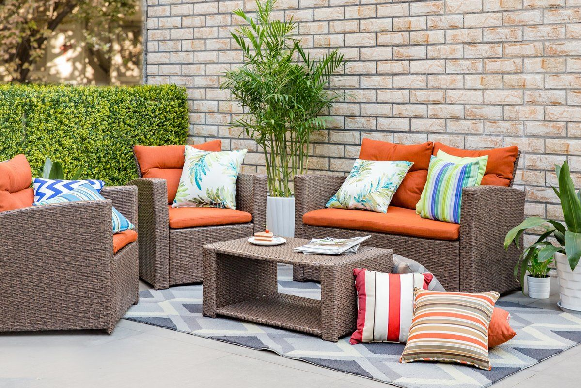 729 99 Seats 4 Masuda Outdoor Wicker 4 Piece Deep Seating Group With Cushions [ 800 x 1199 Pixel ]