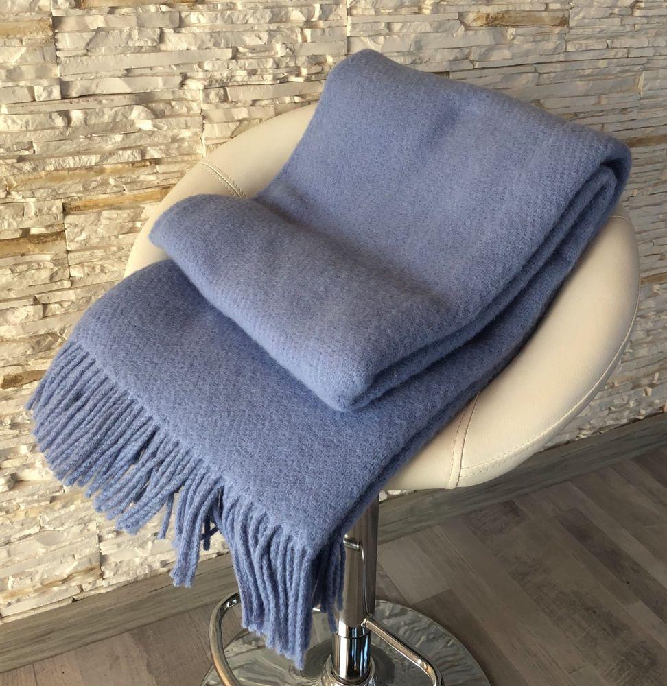 Naturlichen 100 Neuseeland Wolle Decke Fransen Uberwurf Solid