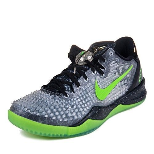 on sale beabb 59a3c Nike Mens Kobe 8 System SS  Christmas  Black Electric Green-Grey Synthetic  Basketball Shoes Size 14, Men s, Size  14 D(M) US
