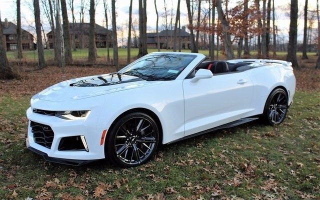 Used 2018 Chevrolet Camaro Zl1 2018 Chevrolet Camaro Zl1 6 Miles Summit White 2d Convertible 6 2l V8 Supercharg 2017 2018 Camaro Zl1 Camaro Chevrolet Camaro