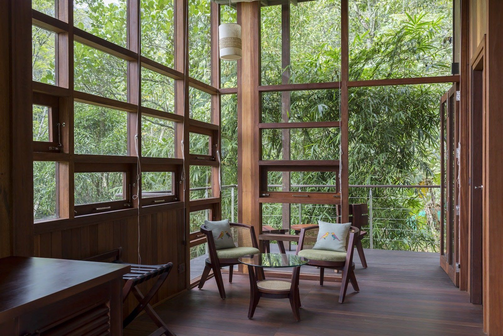 Cooling breezes can be let in through the operable glass windows travel cabin india also these perched cabins will stimulate all your senses rh pinterest