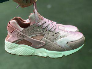 the latest b304b b2071 Womens Nike W Air Huarache Run Premium Pink Glaze Pearl Pink Sail Gum  Medium Brown 683818