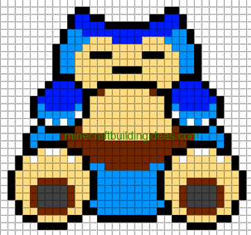 Minecraft Pixel Art Templates Snorlax Pixel Art Pokemon Minecraft Pixel Art Pixel Art Templates