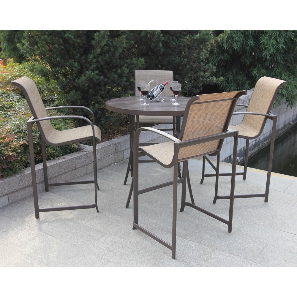 Wellington 5 piece High Outdoor Dining Set (Aluminum