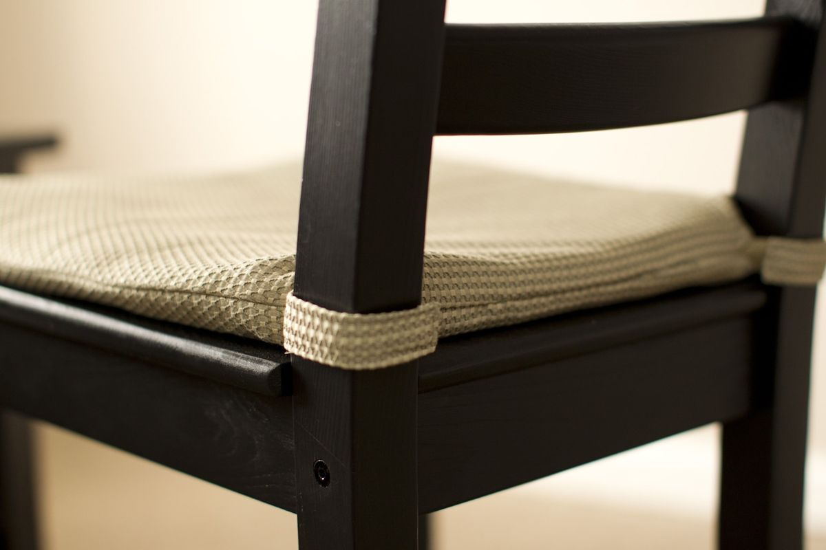 Custom Chair Cushion With Velcro Straps Custom Seat Cushions