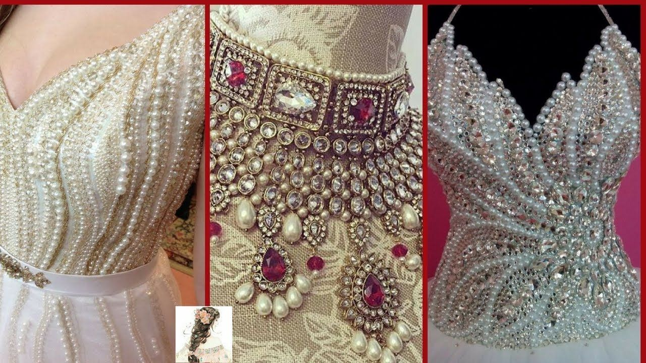 c3088f6e15c Stylish And Beautiful Designs And Patterns Of Pearl Work On Blouses ...
