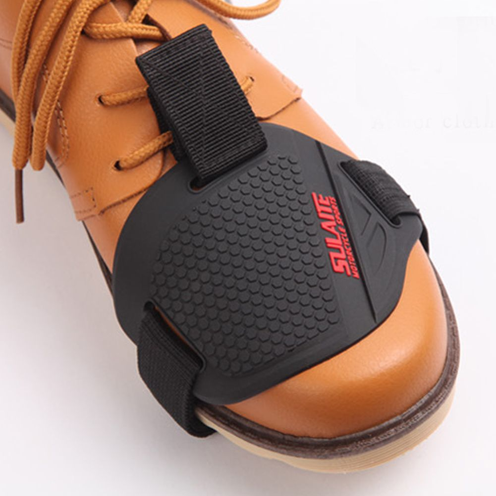Motorcycle Gear Shift Pad Leather Shifter Guards Shoes Boots Scuff Protector
