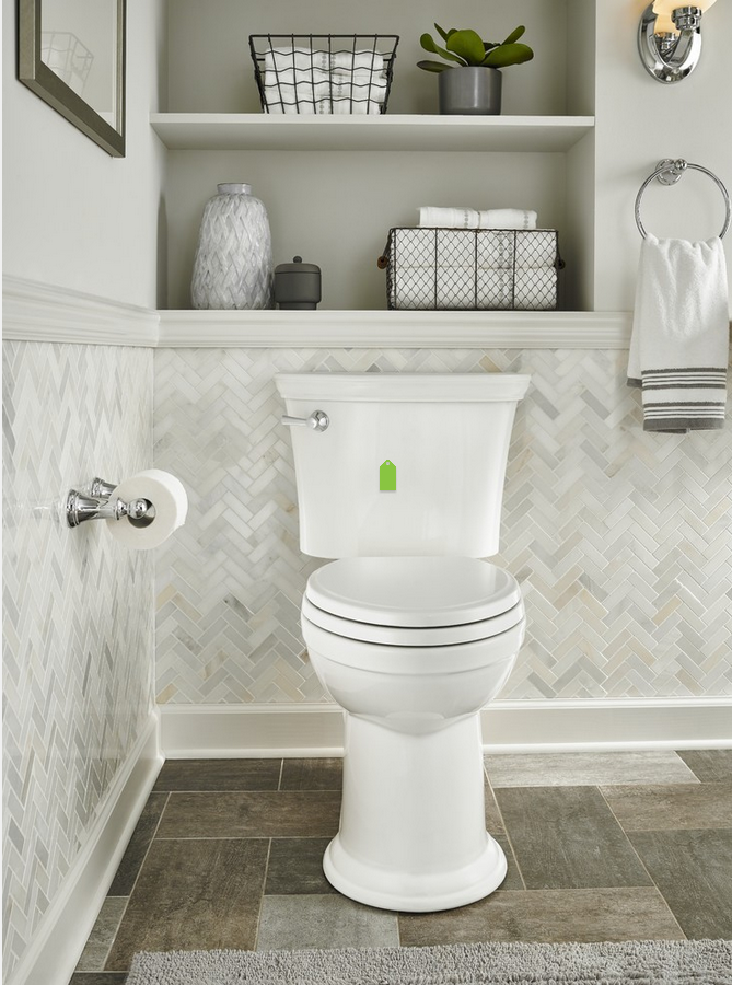Love The Tile Work On Wall Behind Toilet Guest Bathroom Decor Bathroom Decor Guest Bathroom
