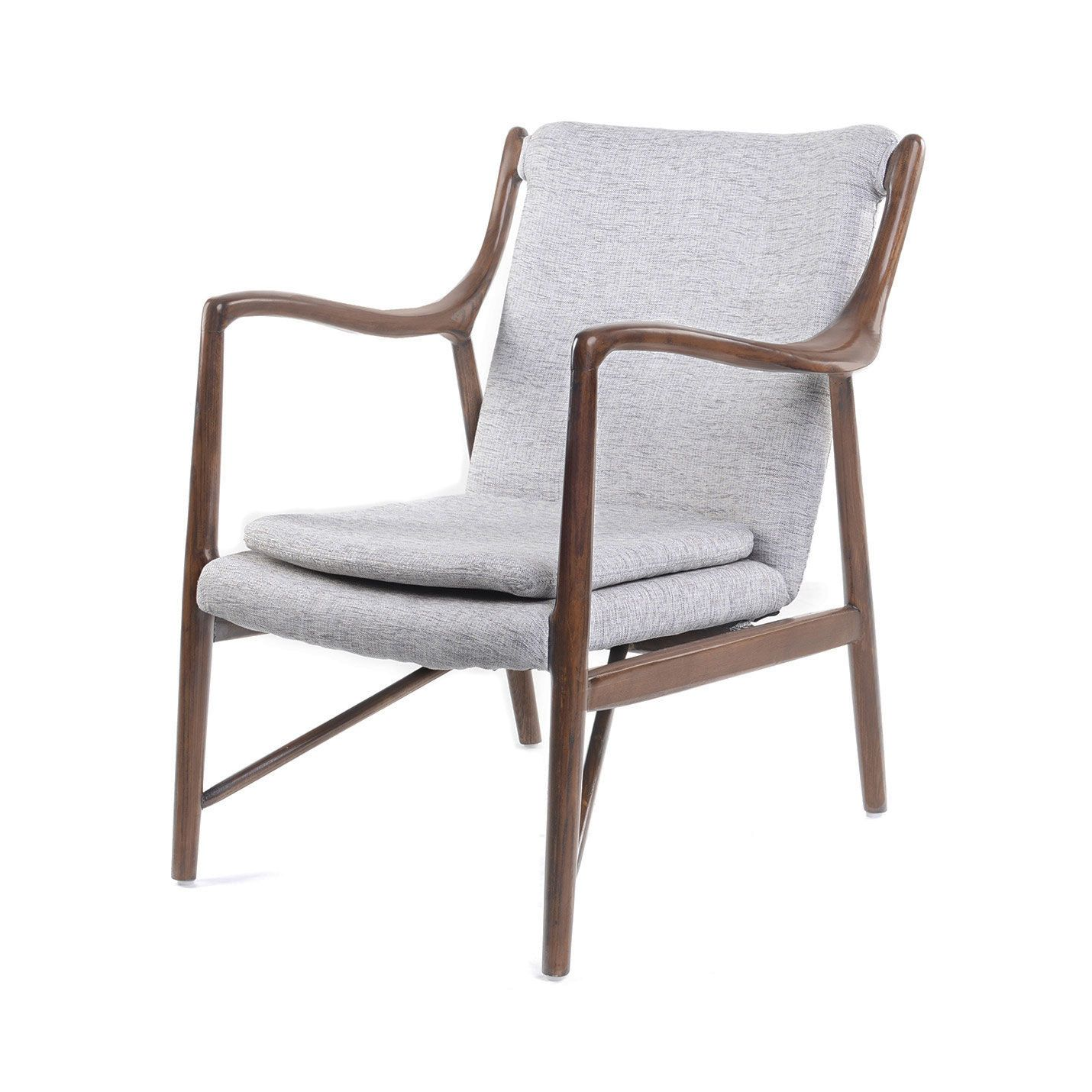 Best Simple Surprise Lounge Chair In Gray Dotandbo Com 400 x 300