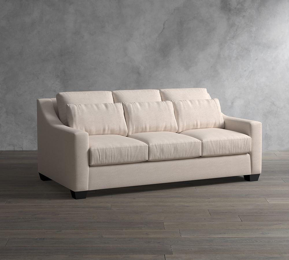 York Slope Arm Deep Seat Upholstered Sofa Upholstered Sofa Sofa