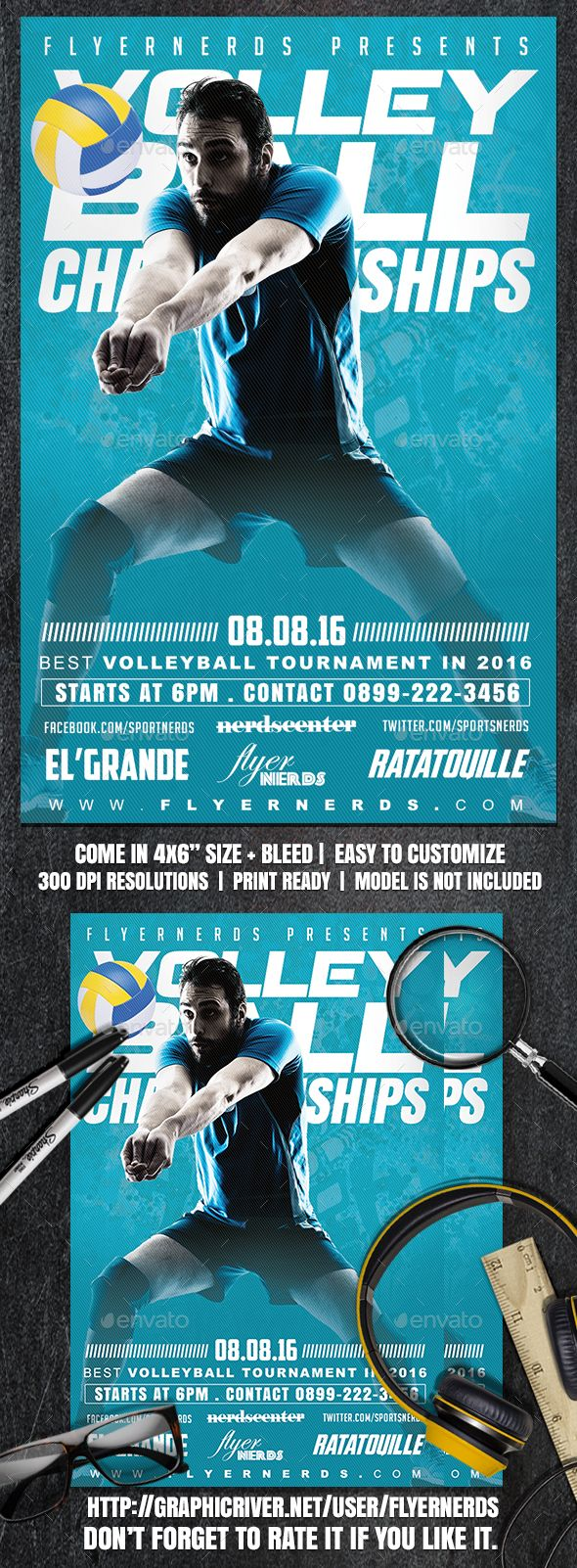 Volleyball Championships Sports Flyer Professional Sports Flyer Template Flyer Design Printdesign Sport Print Exercise Sports Flyer Volleyball Sports