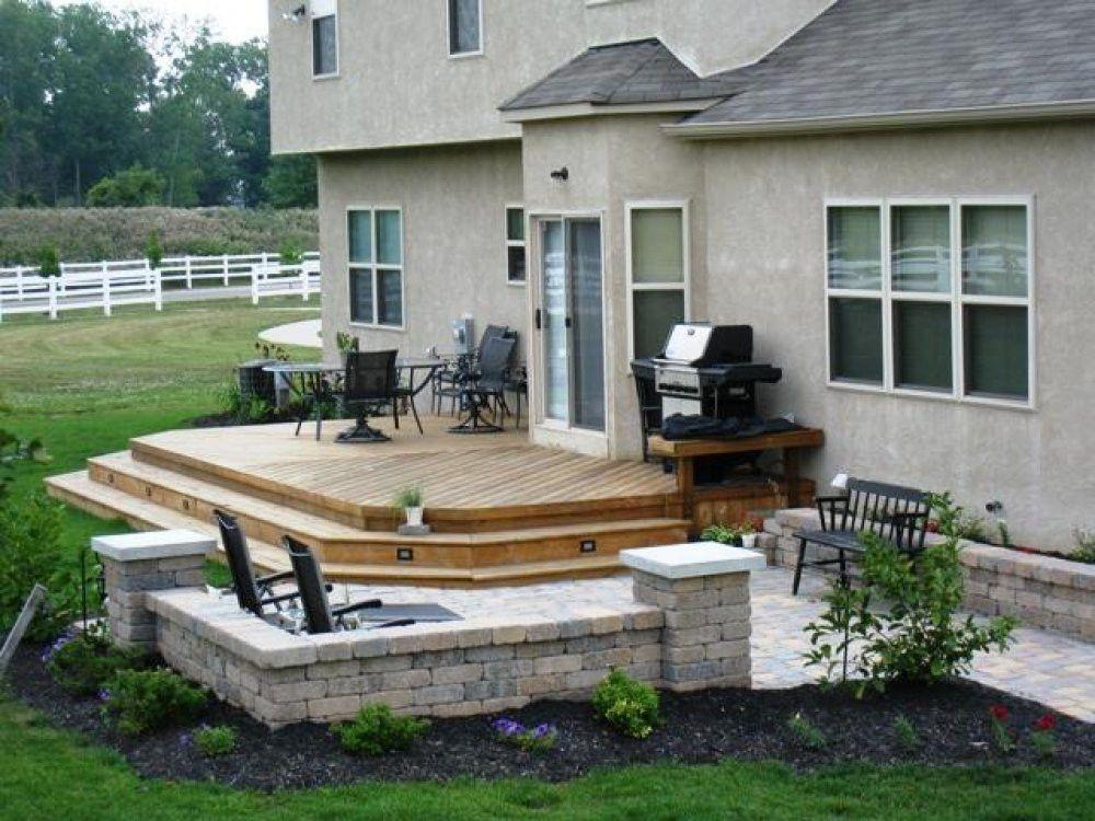 Deck Patio Combination And Ideas Design Arelisapril Small Patio Design Backyard Patio Patio Design