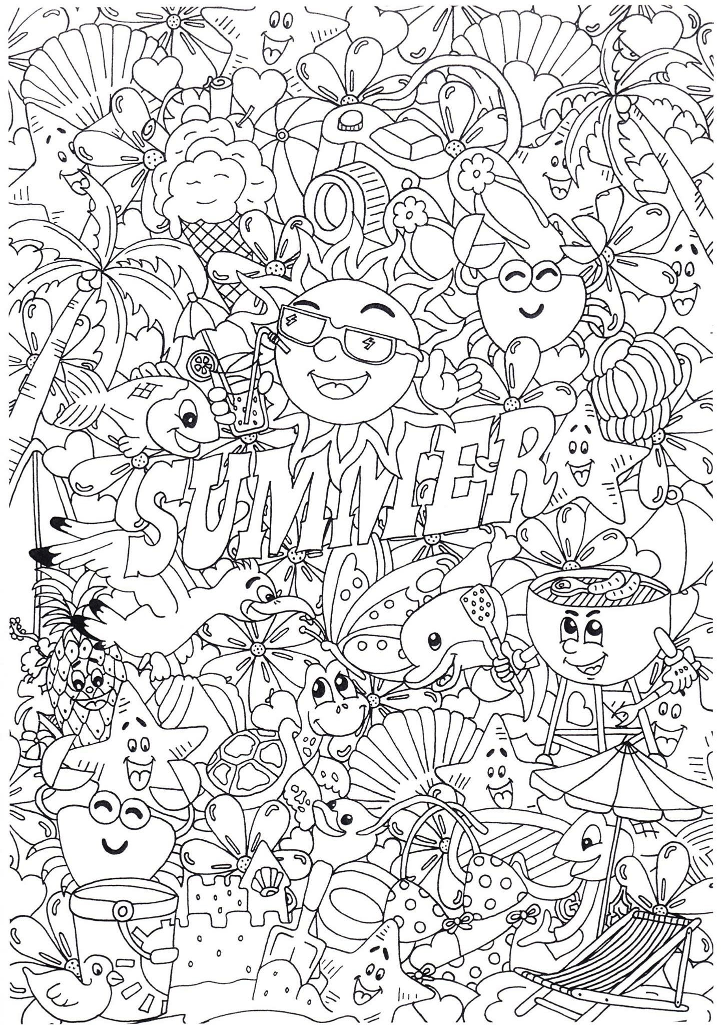 Pin by Melissa D. on :) a   Summer coloring pages ...