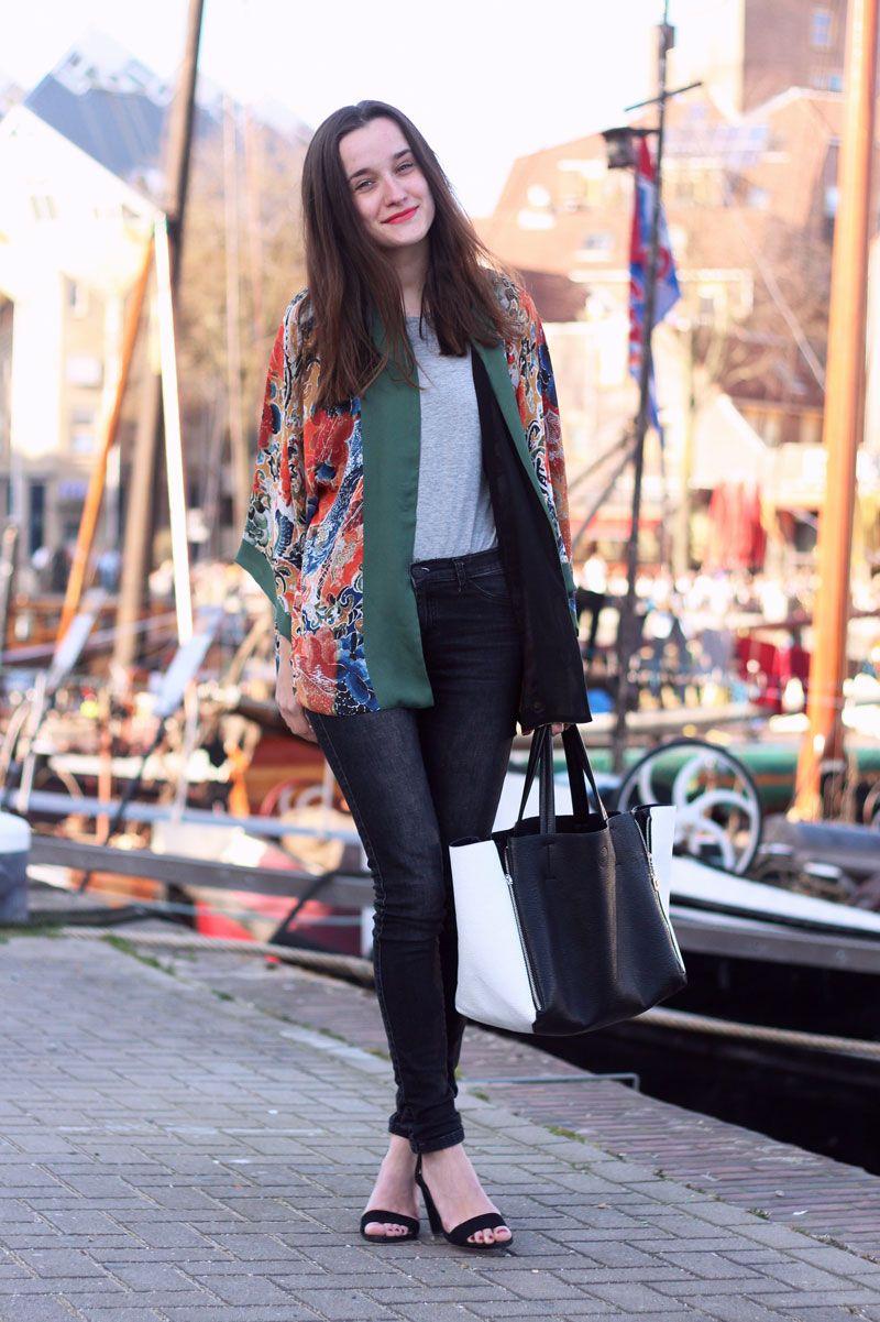 Outfit, Fashiable, fashion, blogger, Zara heels and kimono