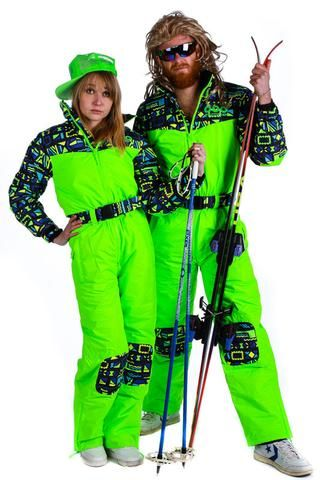 c7bfc08da63 The Day-Glo 80s Style Neon Ski Suit - Shinesty