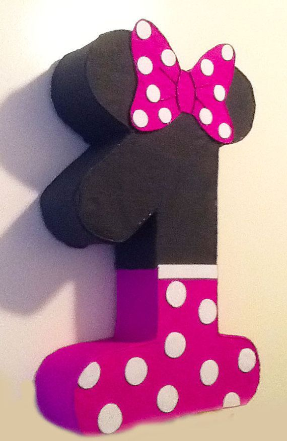 1st birthday minnie mouese pinata, minnie mouse party decoration ...