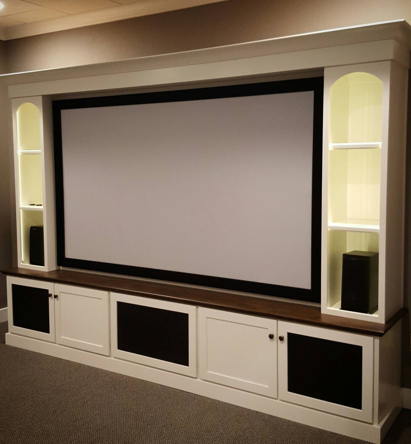 Home Cinema Room Home Theater: Maple Home Theater, Media Center