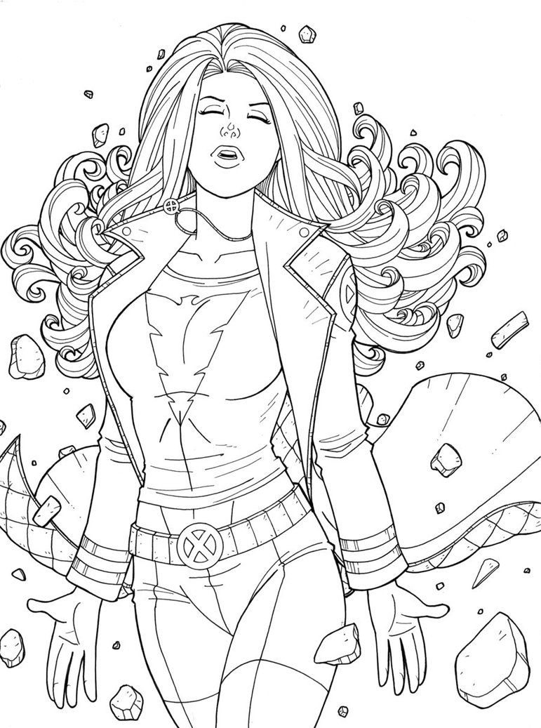 Jean grey commission by jamiefayx jean grey phoenix superhero coloring pages portrait