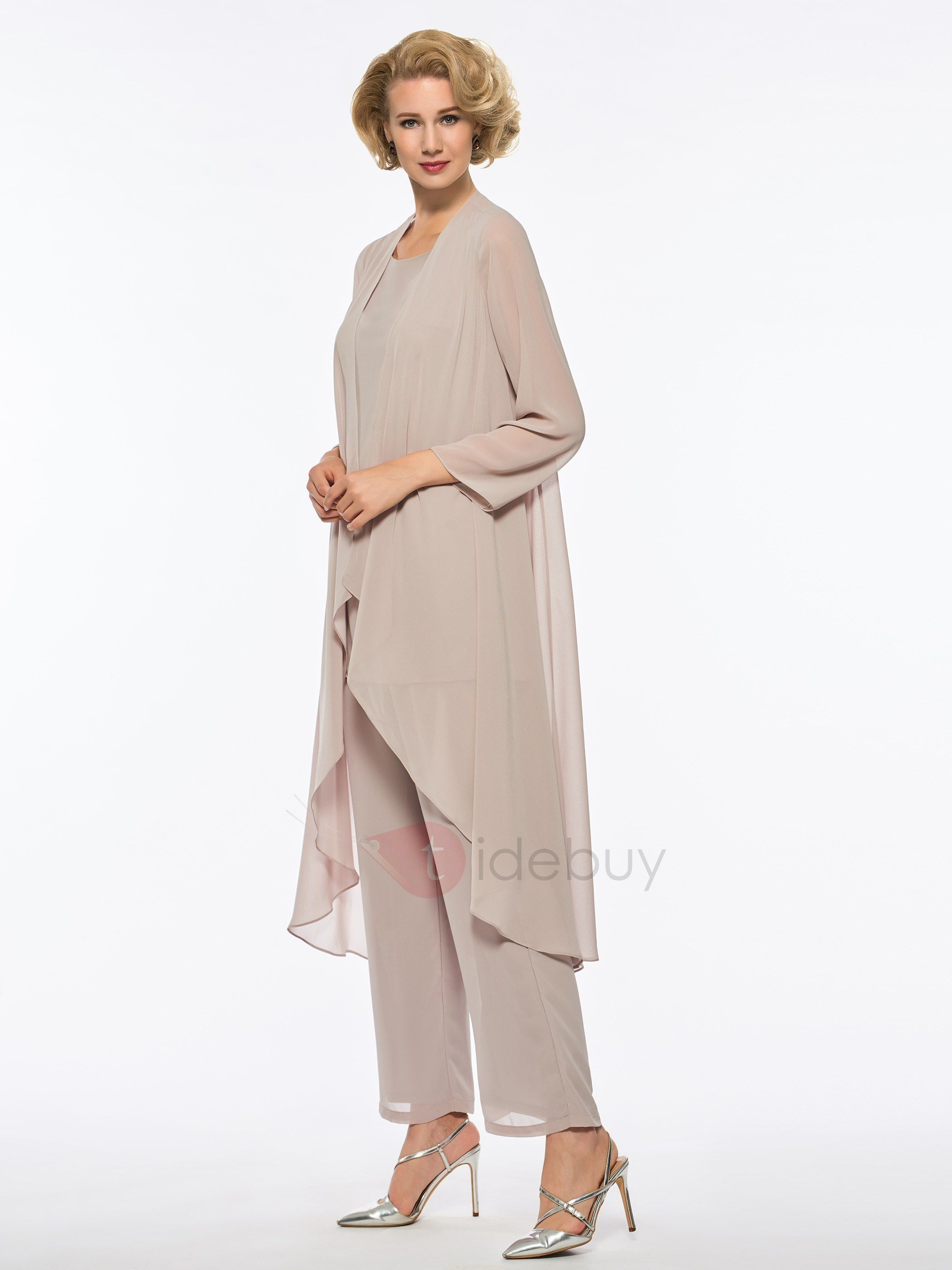 efcc4900668 Tidebuy.com Offers High Quality Pure Mother of the Bride Jumpsuit with Long  Sleeve Jacket