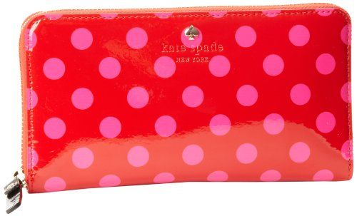 Women's Wallets - Kate Spade New York Carlisle StreetLacey  WalletMaraschinoVivid SnapdragonOne Size * Click on the image for additional details.