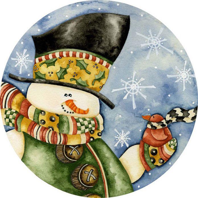 Снеговики | Рождественский снеговик, Рождественские ...