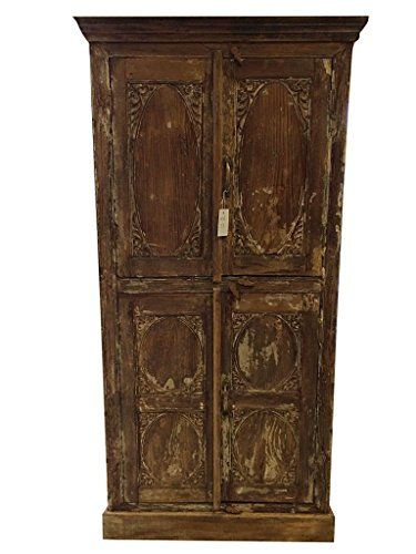 Vintage Rustic Armoire Furniture Indian Warm Industrial Shabby Chic Clothing  Storage Cabinet Mogul Interior Http: