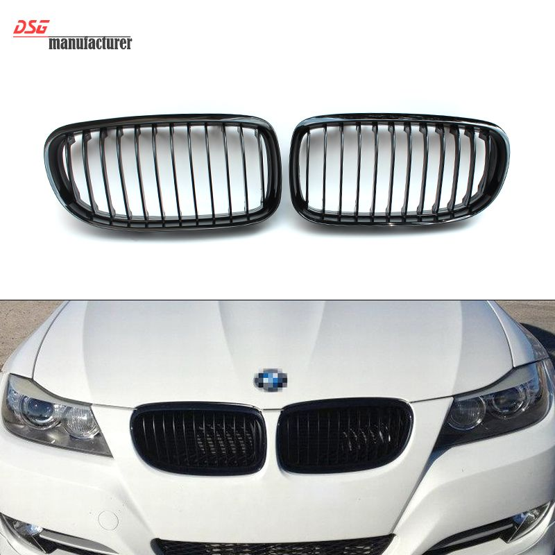 E90 Lci Black Front Bumper Grill For Bmw 2008 2009 2010 2011 3