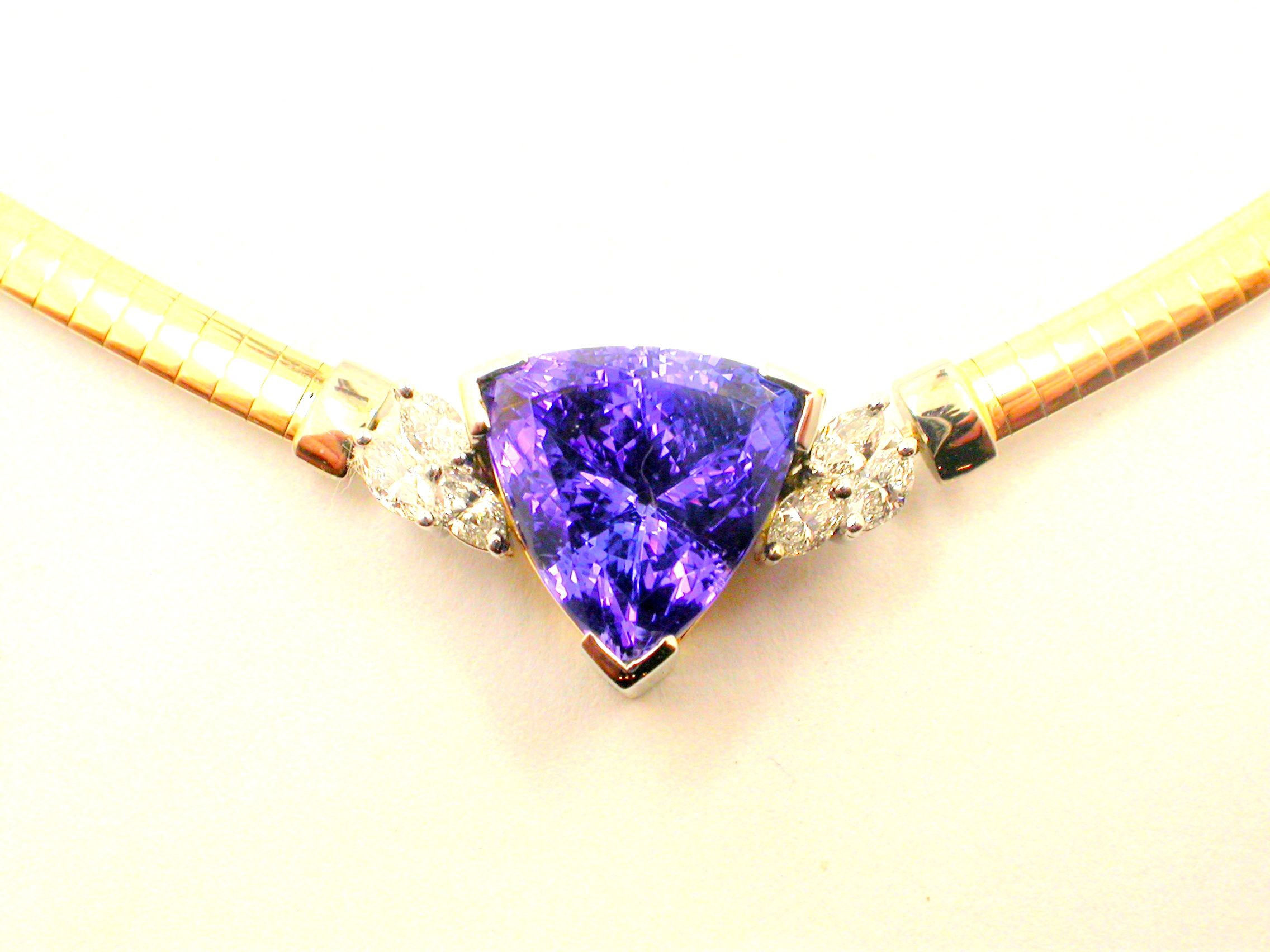 princess edit tanzanite white pendant gold pendants pear and cut diamond shape halo