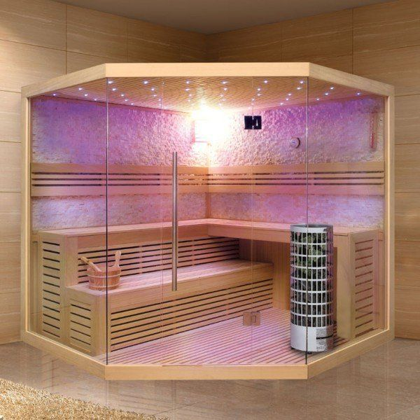 Eo Spa Sauna E1101c Pelholz 180x180 Weiß
