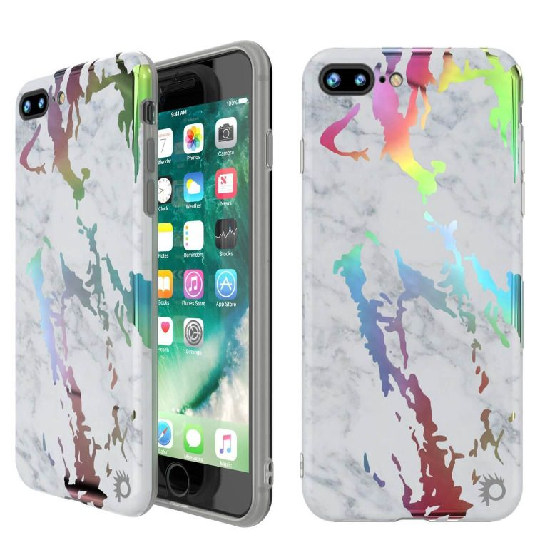 Punkcase iPhone 8 / 7 Plus Marble Case, Protective Full Body ...